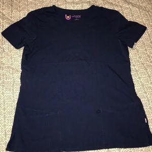 Used dark navy scrub top